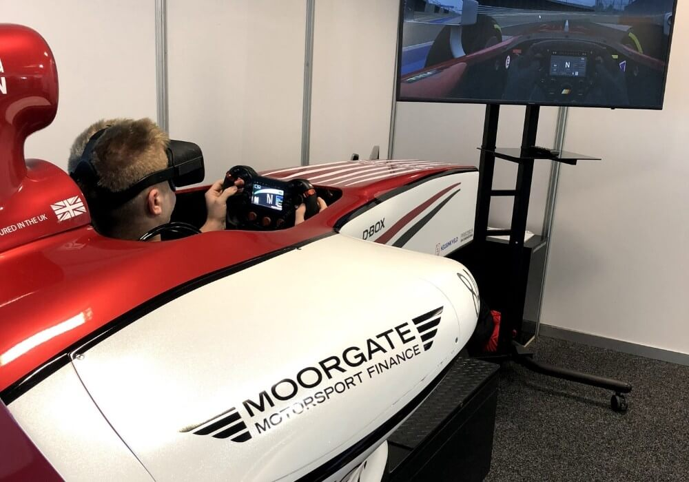 vr racing booths at silverstone