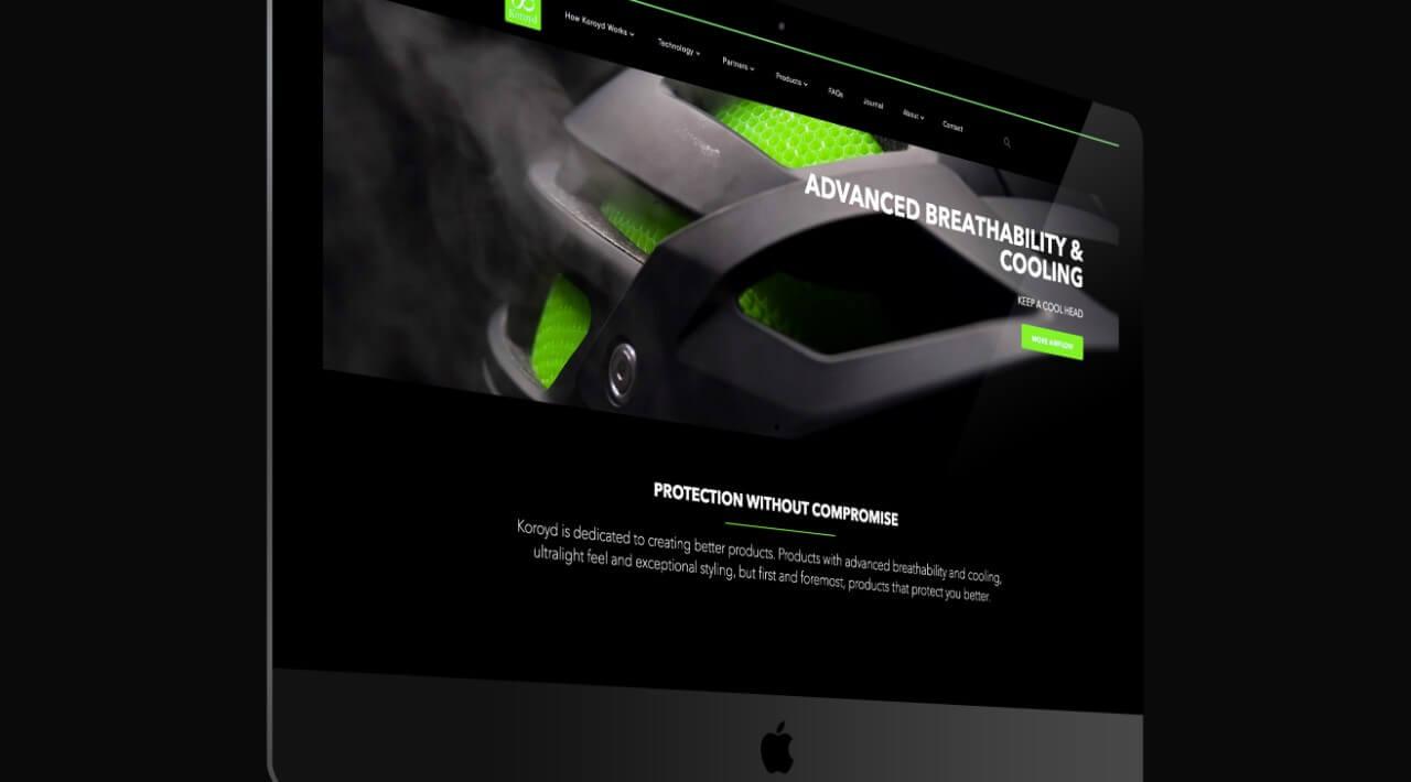 koroyd website design