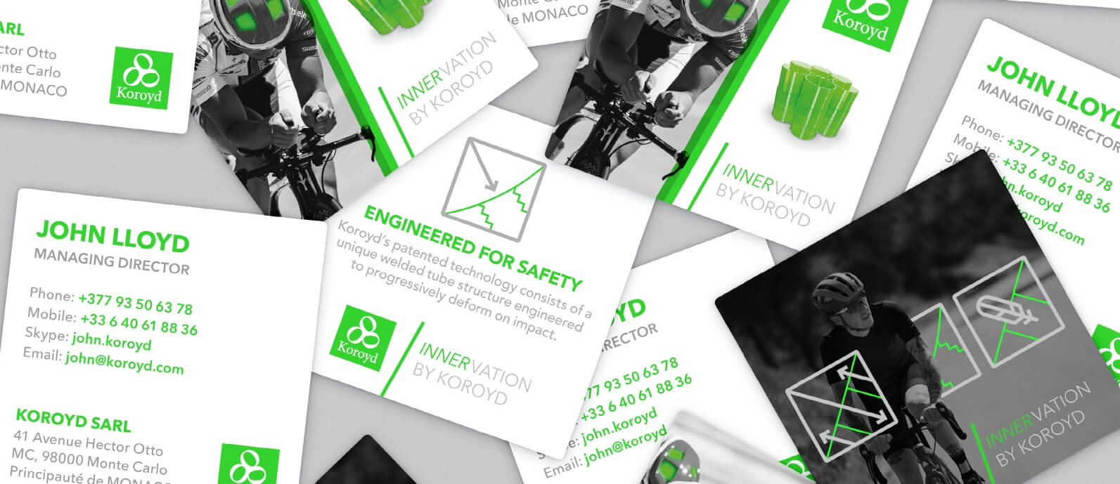 koroyd business cards