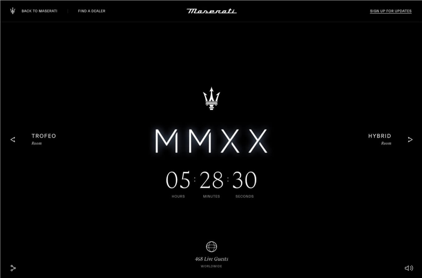 maserati launch countdown