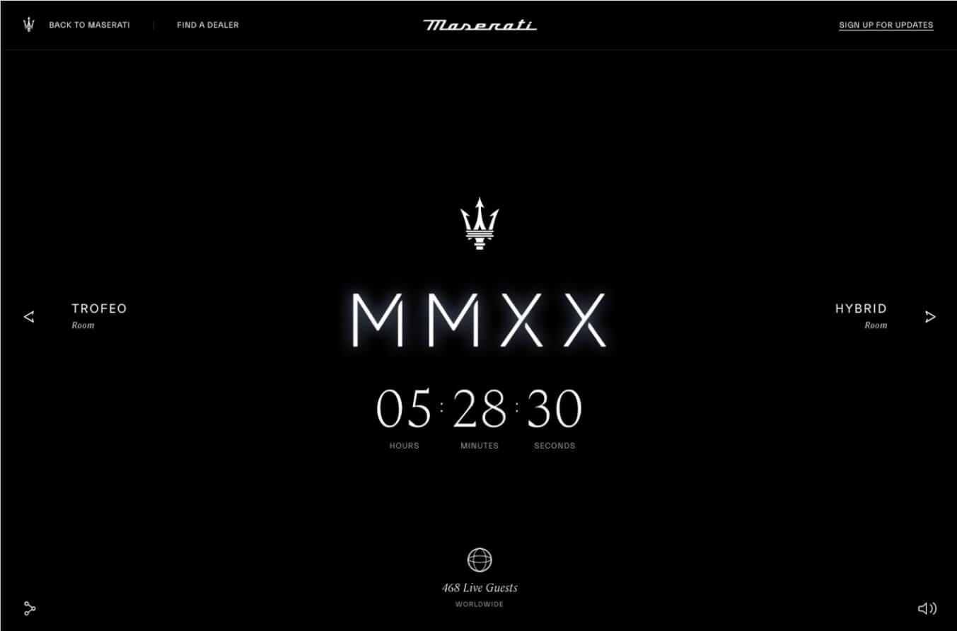 maserati launch countdown