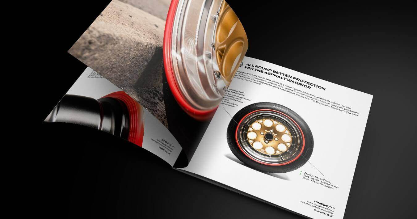 The RIMFINITY digital brochure we created for the SEMA360 show